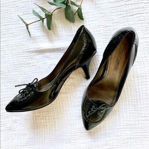 Black Circa Joan & David lace up heels